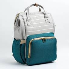 Рюкзак женский, для мамы и малыша, модель «Сумка-рюкзак», цвет зелёный Sima-Land