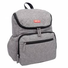 Рюкзак женский, для мамы и малыша, с ковриком для пеленания, цвет серый Sima-Land