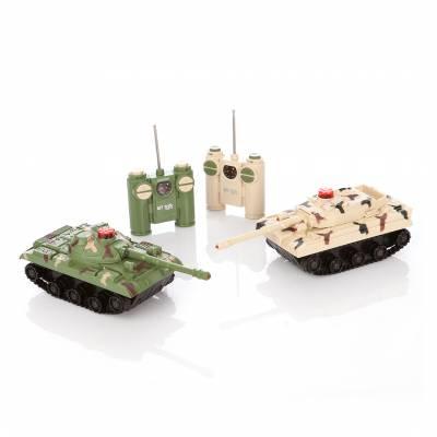 Танковый бой на радиоуправлении (на бат., свет, звук) Играем Вместе