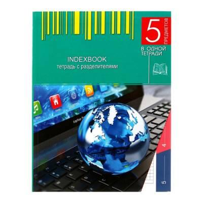 Колледж-тетрадь А5, 128 листов клетка «Ноутбук», интегральная обложка, 5 предметов, выборочный УФ-лак Апплика