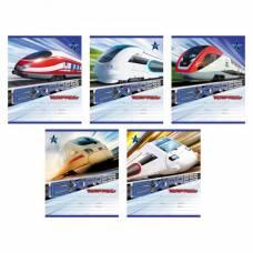 Тетрадь школьная в линейку Express Train, 18 страниц Полиграфика
