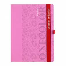 Колледж-тетрадь А5, 80 листов клетка «Розовый», картон 7БЦ, матовая ламинация, на резинке Апплика