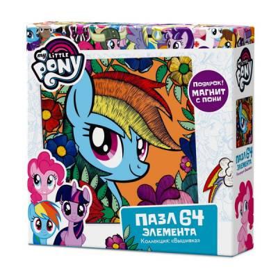 Пазл My Little Pony - Радуга Дэш с магнитиком, 64 элементов Origami
