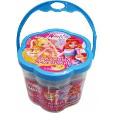 Радужный пластилин Winx, 7 цветов  Играем Вместе