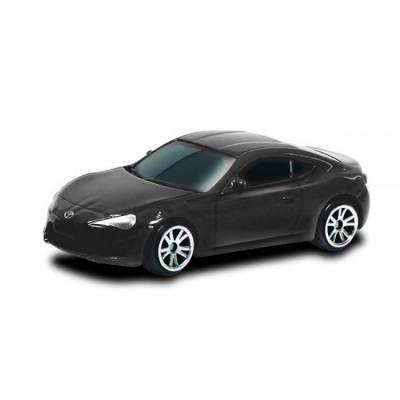 Масштабная модель автомобиля Toyota 86, матово-черная, 1:64  RMZ City