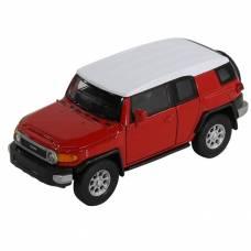 Металлическая модель Toyota FJ Cruiser, красная, 1:34-39 Welly