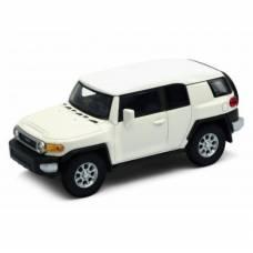 Металлическая модель Toyota FJ Cruiser, белая, 1:34-39 Welly