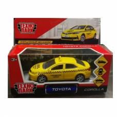 Металлическая машина Toyota Corolla - Такси, 12 см Технопарк
