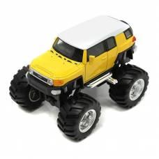 Коллекционная модель Toyota FJ Cruiser - Big Wheel, желтая, 1:34-39 Welly