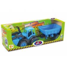 Игрушечный трактор Building Machines с прицепом ZebraToys