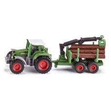 Игрушечный трактор Fendt с прицепом для бревен, 1:87 Siku