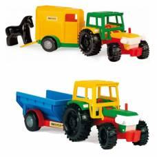 Игрушечный трактор с прицепом Wader