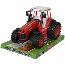 Инерционный трактор Ranch World, красный Junfa Toys