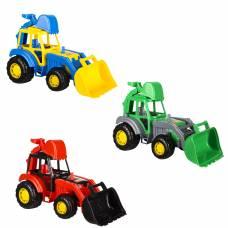 Пластиковый трактор-экскаватор