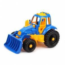 Игрушечный трактор с грейдером Нордпласт