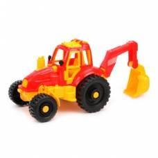 Игрушечный трактор с ковшом Нордпласт