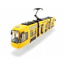 Городской трамвай City Liner, желтый, 46 см Dickie