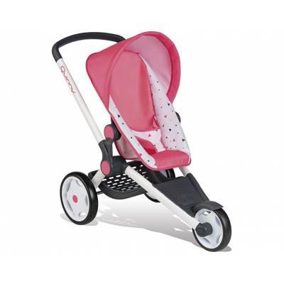 Трехколесная коляска для кукол MC&Quinny, бело-розовая Smoby