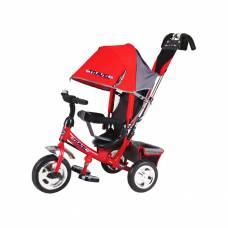 Трехколесный велосипед Travel с родительской ручкой, красный Travel