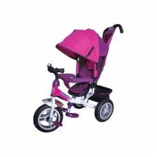 Трехколесный велосипед Formula-3 с ручкой, розовый Formula