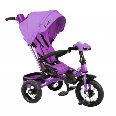Велосипед New Leader 360° 12x10 AIR Car, фиолетовый Moby Kids