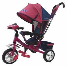 Трехколесный велосипед Formula с ручкой управления (звук, свет), розовый Formula