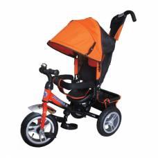 Трехколесный велосипед Formula-3 с ручкой, оранжевый Formula