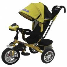 Трехколесный велосипед Formula 4 (свет, звук), желтый Formula