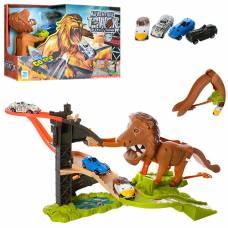 Игровой трек Adventure Track с машинками и львом (звук)