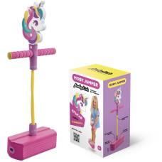 MobyJumper. Тренажер для прыжков со звуком Единорог, розово-фиолетовый Moby Kids