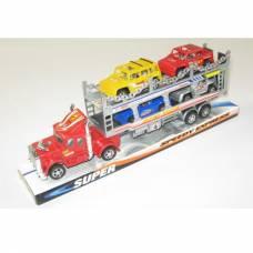 Инерционный автовоз Super Speed Express с 4 машинками