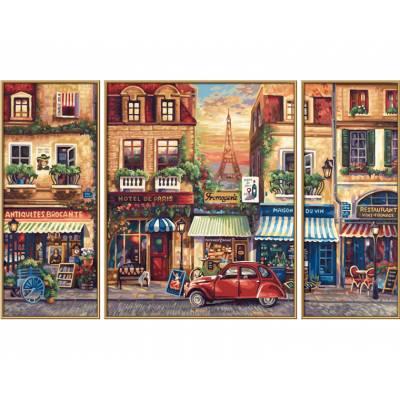 Картина-раскраска по номерам - триптих