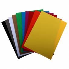 Цветной гофрированный картон, 10 листов Sadipal