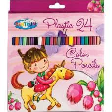 Набор пластиковых цветных карандашей