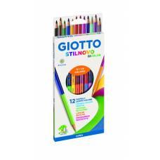 Двухсторонние карандаши, гексагональные, 24 цвета, 12 шт. Giotto