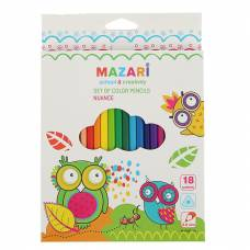 Цветные карандаши Nuance, 18 цветов MAZARi