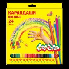 Набор из 24 цветных карандашей Каляка-Маляка