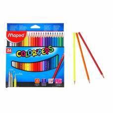 Карандаши трехгранные 24 цвета Color Peps Maped