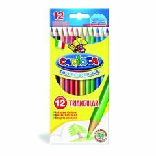 Трехгранные цветные карандаши, 12 цветов Carioca