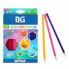 Карандаши пластиковые 18 цветов SFERIKI, шестигранные, 2.7 мм, в картонной коробке с европодвесом BG