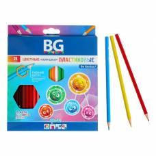Карандаши пластиковые 24 цвета SFERIKI, шестигранные, 2.7 мм, в картонной коробке с европодвесом BG