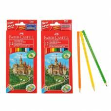 Цветные карандаши Eco - Замок с точилкой, 12 шт. Faber-Castell