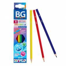 Карандаши пластиковые 6 цветов SFERIKI, шестигранные, 2.7 мм, в картонной коробке с европодвесом BG