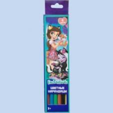 Карандаши цветные 6 цветов Enchantimals, длина 177 мм CENTRUM