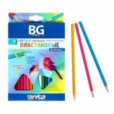 Карандаши пластиковые 18 цветов INFLY, трёхгранные, 2.7 мм, в картонной коробке с европодвесом BG