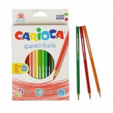 Шестигранные цветные карандаши, 36 шт. Carioca