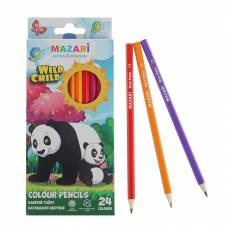 Цветные карандаши Wild Child, шестигранные, 24 шт. MAZARi