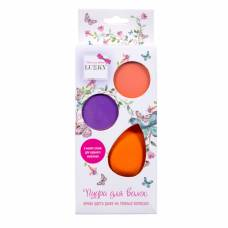 Пудра для волос с каплевидным спонжем, оранжевая и фиолетовая Lukky
