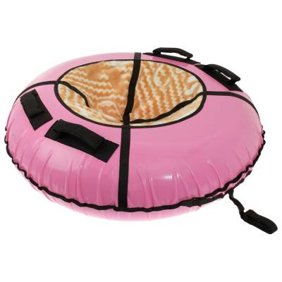 Санки-ватрушки меховое сиденье  диам 1,2 м с молнией цвета ONLITOP