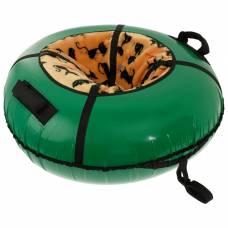 Санки-ватрушки меховое сиденье  диам 1,1 м с молнией  цвета ONLITOP